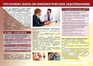 Профилактика онкологических заболеваний: памятка для населения